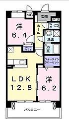 イーストサンシャイン[4階]の間取り