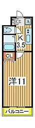 YUKON南柏[312号室]の間取り