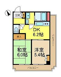 第一八千代ビル[4階]の間取り