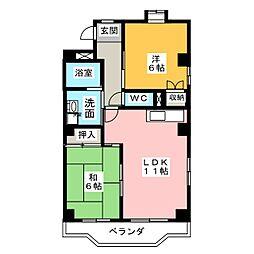 ロイヤルプレジオ2[2階]の間取り