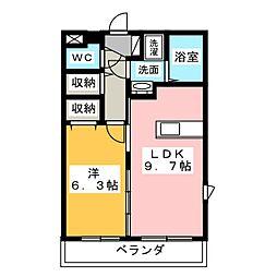 マエストロ斎宮 1階1LDKの間取り