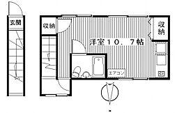 竹内アパート[2階]の間取り