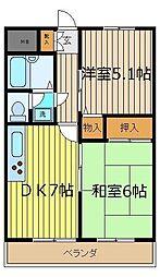 パレ・ドール[306号室]の間取り