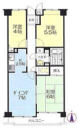 新横浜ガーデンコートAサイド[2階]の間取り