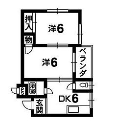 竹内ハイツ[304号室]の間取り