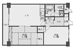 101セントラルビル[6階]の間取り