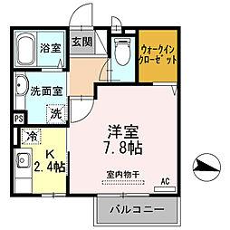 滋賀県大津市和邇中浜の賃貸アパートの間取り