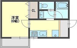 奈良県香芝市関屋の賃貸マンションの間取り