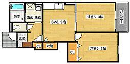 フリーデT・M[1階]の間取り