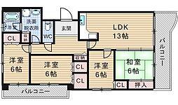 シティパル桜川[7階]の間取り