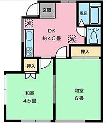 ストークハイツ[2階号室]の間取り