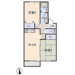 愛知県岡崎市末広町の賃貸アパートの間取り