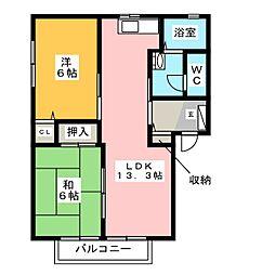 エピローグ.K B棟[2階]の間取り