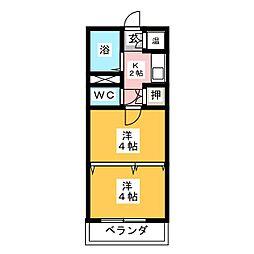パールプラザ[5階]の間取り