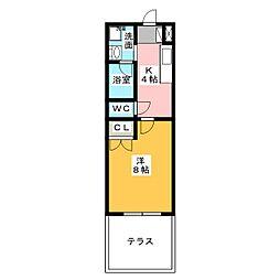 愛知県名古屋市名東区一社3の賃貸マンションの間取り