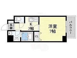 Osaka Metro中央線 九条駅 徒歩6分の賃貸マンション 10階1Kの間取り