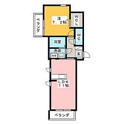 ドミール大高南[2階]の間取り