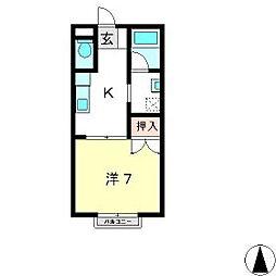 メゾニティ牧野 A棟[2階]の間取り