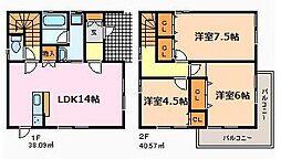 [一戸建] 愛知県名古屋市緑区西神の倉2丁目 の賃貸【/】の間取り