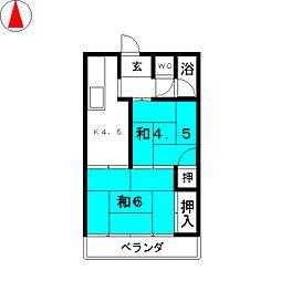 中芝荘[2階]の間取り
