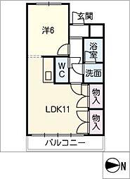 コンフォール[2階]の間取り