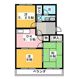 ノーブルパーク134[3階]の間取り