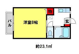 シャルム21[1階]の間取り