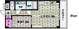 兵庫県神戸市東灘区住吉南町3丁目の賃貸マンションの間取り