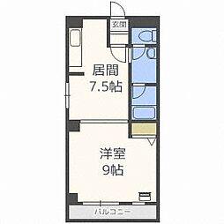 琴似1・6マンション[6階]の間取り