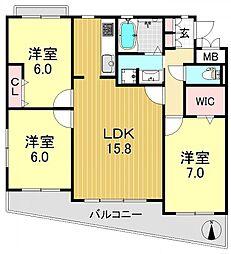 エクシード平野[3O1号室号室]の間取り