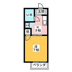 タウニー本山[2階]の間取り