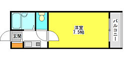 スカイコーポ21[3階]の間取り