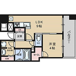 Osaka Metro堺筋線 北浜駅 徒歩4分の賃貸マンション 5階1LDKの間取り