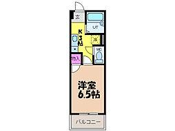 愛媛県伊予郡砥部町高尾田の賃貸マンションの間取り