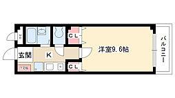愛知県日進市北新町殿ケ池下の賃貸アパートの間取り