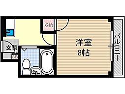 エステートハイノ[4階]の間取り