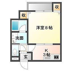 仮)三筋目新築アパートNA[2階]の間取り