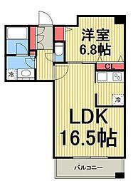 東京メトロ日比谷線 広尾駅 徒歩10分の賃貸マンション 4階1LDKの間取り