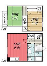 [テラスハウス] 千葉県千葉市若葉区東寺山町 の賃貸【/】の間取り