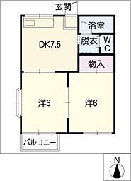 タウニー東栄[2階]の間取り