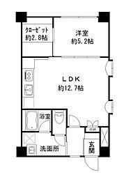 さかえマンション[102号室]の間取り