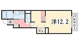 兵庫県加古郡播磨町南大中1丁目の賃貸アパートの間取り