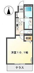 仮)東山アパート[102号室号室]の間取り