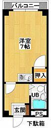 第2古川マンション[301号室]の間取り