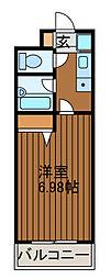 スターダスト麻生[4階]の間取り