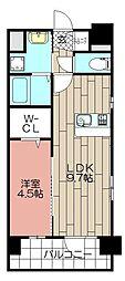 CLUB博多駅南レジデンス[1203号室]の間取り