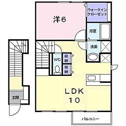 リバ−グレイス[2階]の間取り