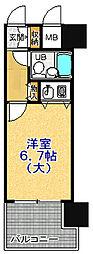 朝日プラザαポート神戸[206号室]の間取り