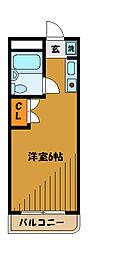 東京都小金井市貫井北町4丁目の賃貸マンションの間取り