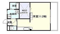 (仮称)瀬頭2丁目マンションII 3階ワンルームの間取り